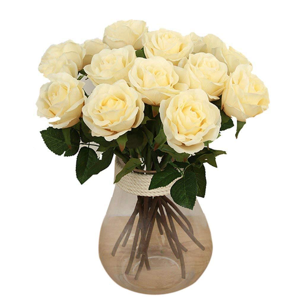 Bringsine Baby Breath / gypsophilaウェディング装飾ホワイトColourシルク花 10PCS Bring-6079 B01HJAWZHY Rose- Champagne Color 10PCS