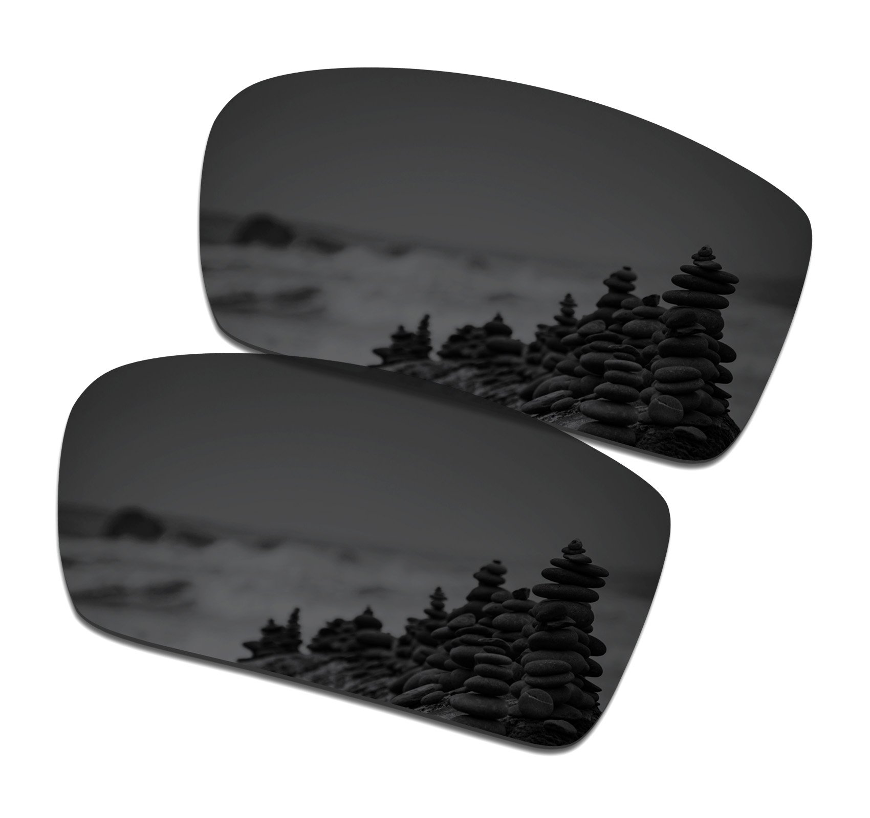 SmartVLT Men's Stealth Black Replacement Lenses for Oakley Gascan Sunglass by SmartVLT