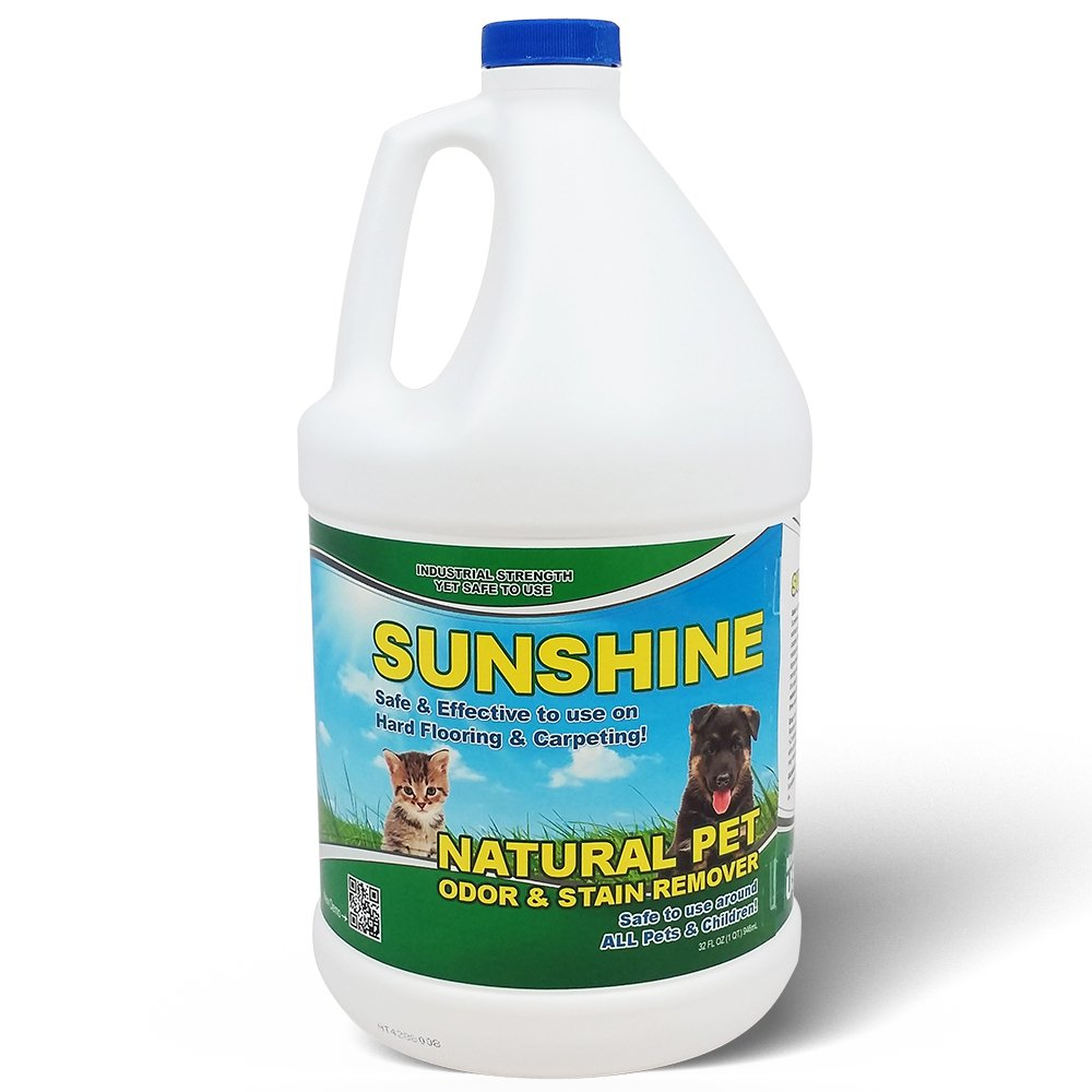 Pet Odor Eliminator and Pet Stain Remover - Sunshine Natural pet odor eliminator & cleaner (1 Gallon Bottle)