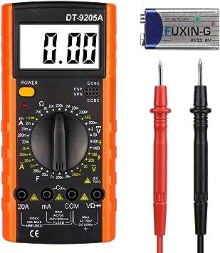 Digital Multimeter Multimeter Messgeräte Digitales Voltmeter Amperemeter Ohmmeter Akustischer Durchgangsprüfer Multimeter Voltmeter Ac Dc Multi Tester Spannung Strom Widerstand Baumarkt
