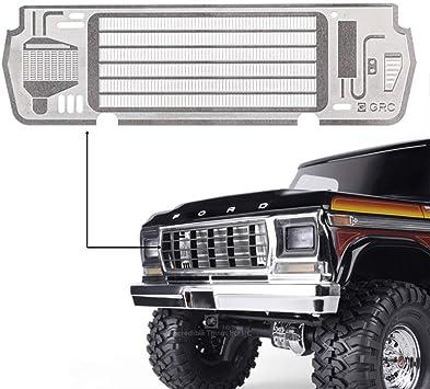 INJORA RC Rejilla de Entrada de Aire Frente Intake Grille Front Face para 1/10 RC Crawler TRAXXAS TRX4 Ford Bronco Ranger XLT