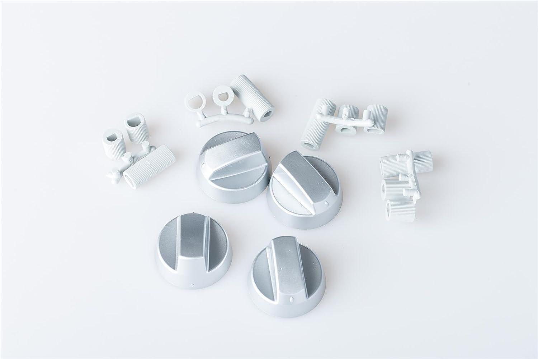 NEU Universal Knebelset 9-teilig Drehknopf Knebel weiß für Backofen Herd Ofen