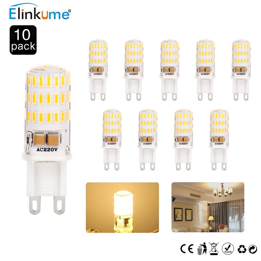 ELINKUME® Lámparas LED G9 5W 46 SMD 4014 Lámparas de bajo consumo LED superbrillante blanco cálido [Equivalente a la lámpara halógena de 50W, CA 220-240V, ...