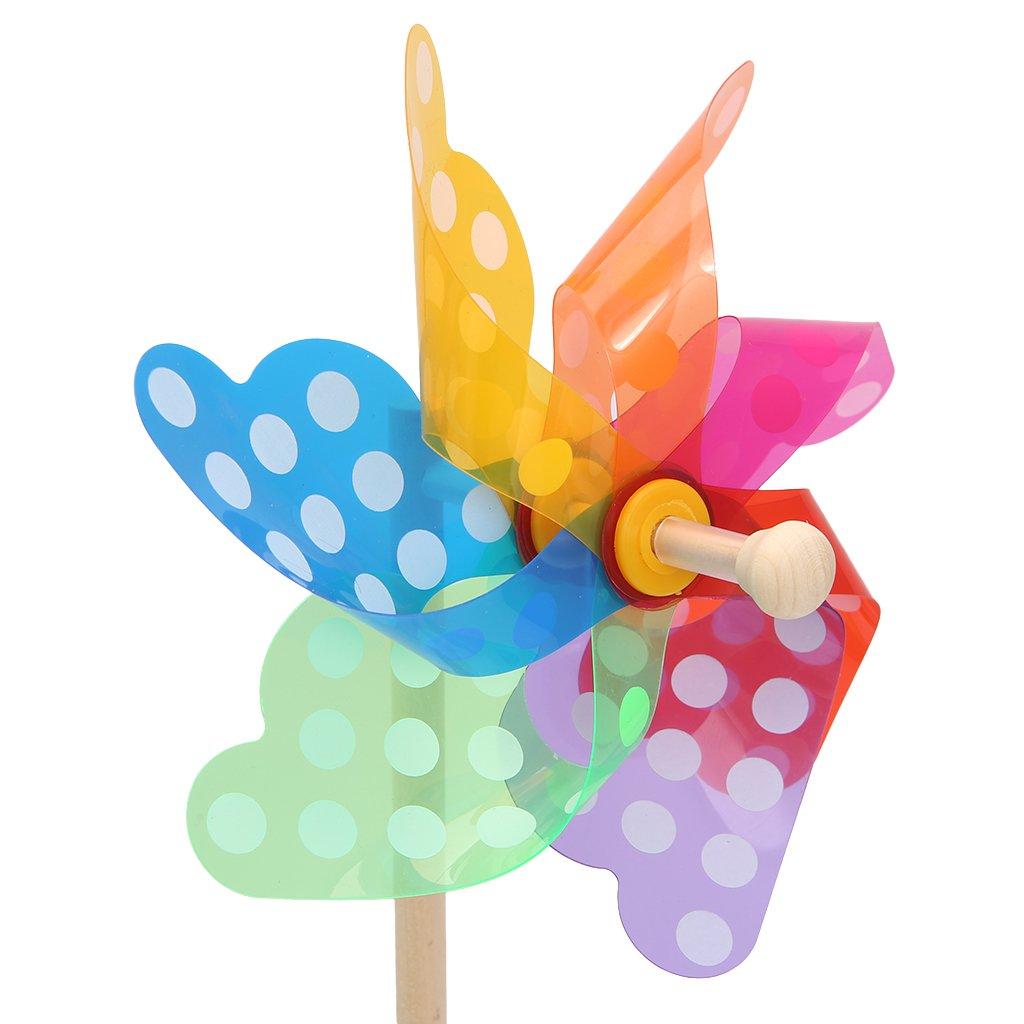 Senoow Bunte Windrad Wind Wind Spinner Windmühle Hausgarten Hof Decor Kinder Spielzeug Geschenk