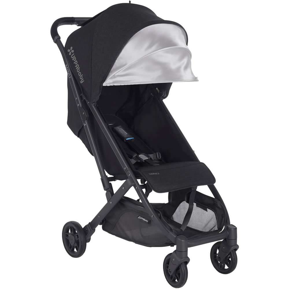 2018 UPPAbaby MINU Stroller - Jake (Black Melange/Carbon/Black Leather) 61ZF6osoL7L