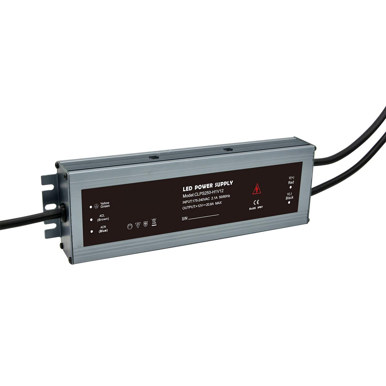 CLPS200-H1V12 Dapenk Aluminiumgeh/äuse ultrad/ünn im Freien wasserdicht CLPS Serie 200 Watt Led Netzteil 12 V Netzteil F/ür Led-lampen Streifen