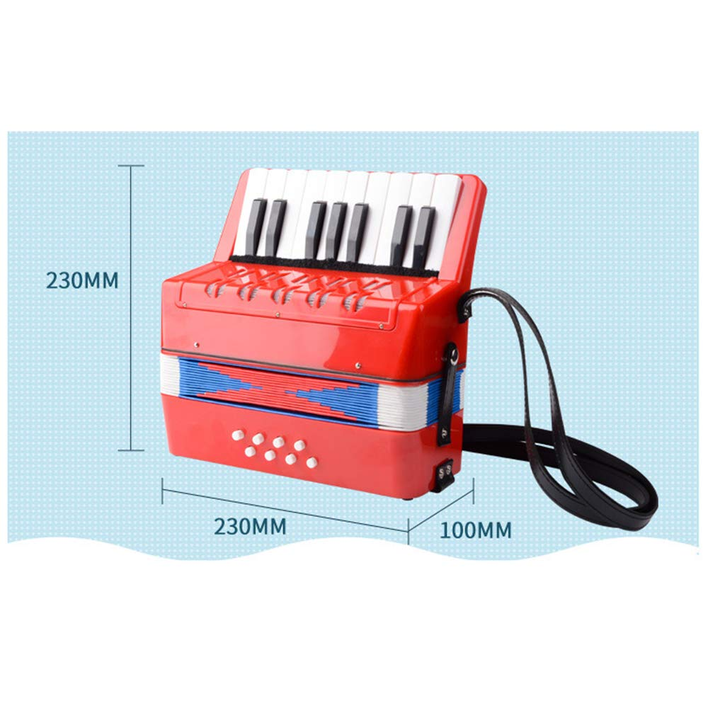 TECHLINK Accordions Toy Childern Musical Instrument Musical Accordion Portable 17 Keys 8 Bass Promotes Education Children's Gift by TECHLINK (Image #6)