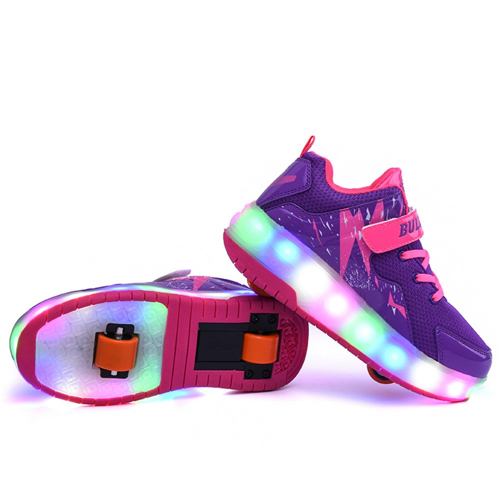 Man's/Woman's LaBiTi USB Charging LED Children Wheel Shoes Breathable Boys Sneakers & Girls Roller Shoes Fashion Kids Sneakers Boys Christmas Gift Aesthetic appearance First grade in its class classic style RH1968 96ddfd