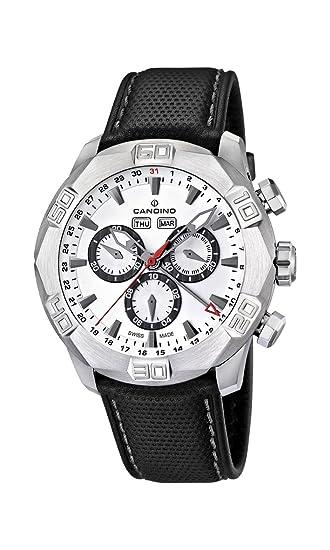 Candino C4476/1 - Reloj cronógrafo de Cuarzo para Hombre, Correa de Cuero Color