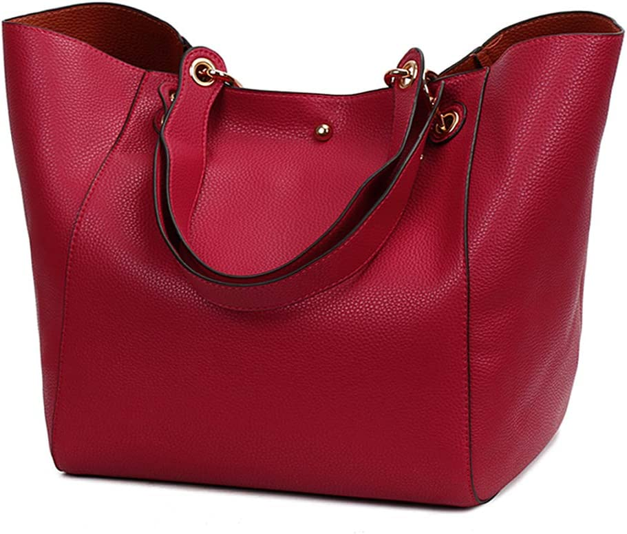 Marron Pahajim Mode Sacs /à main Femme Grandes Capacit/é Poches Sac /à Main Sac /à Bandouli/ère Shopper Sac Souple pour le Travail et les Voyages
