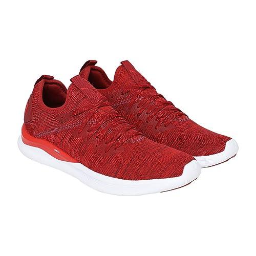 Puma Running Ignite Flash Evoknit Herren Laufschuhe Fitnessschuhe rot weiß