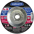 "Osborn 1113251072 Cutting/Cut-Off Disc with Threaded Arbor, T27, 4-1/2"" x 0.045"" x 5/8""-11, A+ 60, Advanced Aluminum Oxide, 13280 rpm, 4.5"" Diameter, 4.5"" Type (Pack of 10)"