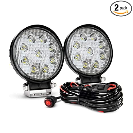 Fog LeadsYears Round Wiring Lamp Nilight Ni WarrantyPack Off Spot Jeep 07 Harness 27w Driving Lights With Road 2 2pcs ybf76gIYv