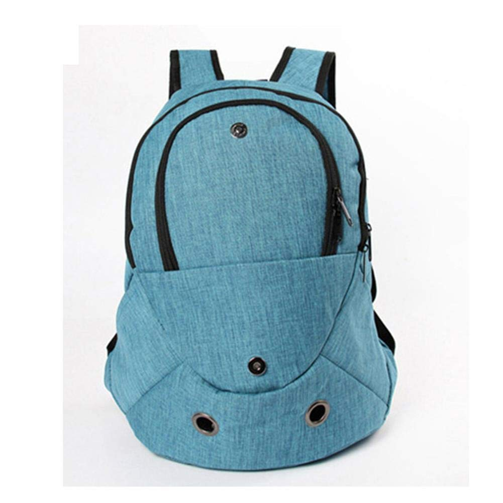 bluee V.JUST Pet Backpack Carrier for Dogs Cat Bag Travel Double Shoulder Outdoor Puppy,bluee