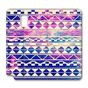 Note 4 leather Case,Note 4 Cases ,A lattice wall chart Custom Note 4 High-grade leather Cases