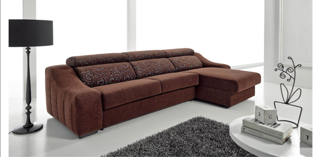 Top Modern High End Dark Brown Sectional Living Room Sofa Bed Set (Made in Spain)