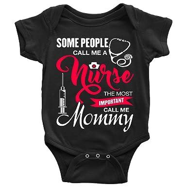 Amazon.com: Call Me A Nurse Baby Bodysuit, Call Me Mommy ...