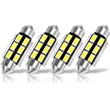 SUMOZO 4 x 36mm LED Feston C5W LED Blanca 5730 SMD 6411 6418 6 LED Luz Interior de Coche Festón Lámpara Blanco c5w luz de la placa del adorno de la boveda del bulbo de Auto-Dome Bombilla (36MM)