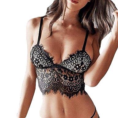 ❤ Sujetador de Encaje de Mujer lencería,Moda Plus Size Sexy Sujetador de pestañas Ropa Interior Ropa de Dormir Absolute: Amazon.es: Ropa y accesorios