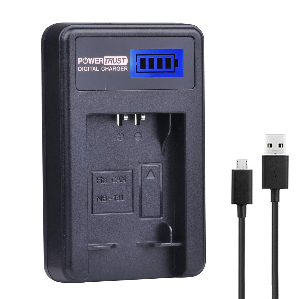 Cargador de batería de LCD y USB Cable Para Canon NB-13L PowerShot G7X G9X G5X Cámara