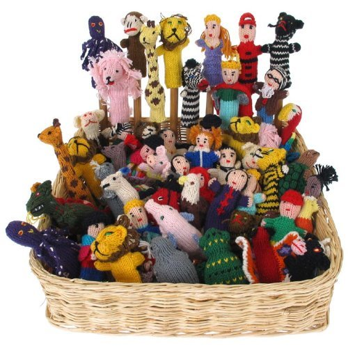 Knit Finger Puppets Assortment Bag of 25 Free Worldwide Global Shipping Sanyork Fair Trade
