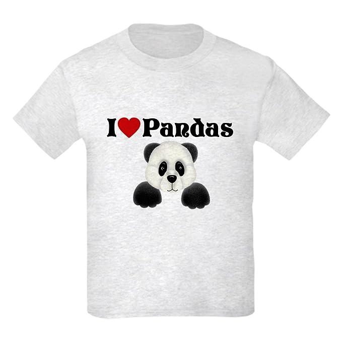 873a4dc6b Amazon.com: CafePress - I Love Pandas Kids Light T-Shirt - Kids ...