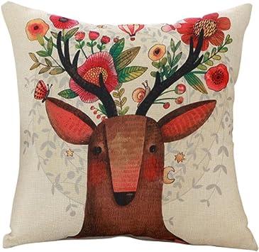 Amazon.com: Luxsea - Funda de cojín de lino con diseño de ...