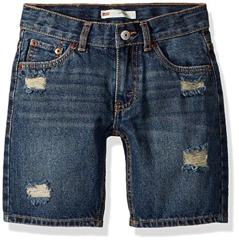 Levi's Little Boys' 511 Slim Fit Denim Shorts, Blue Asphalt,7