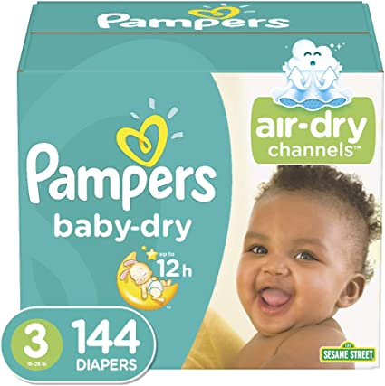 Pampers Baby Dry Disposable Baby Diapers Jumbo Pack 32 Count Diapers Size 3