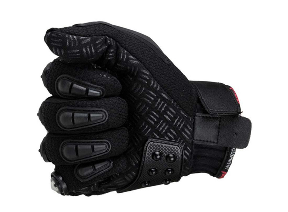 Black,M Motorcycle Gloves Racing Motorbike Bicycle Gloves Alloy Steel Protection