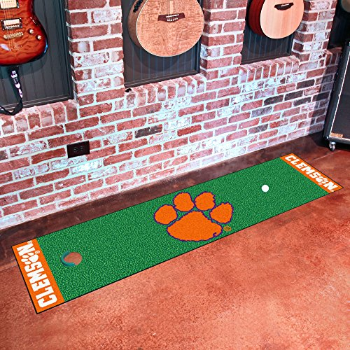 FANMATS NCAA Clemson University Tigers Nylon Face Putting Green Mat