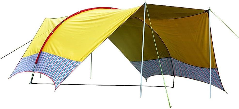 Accesorios para tiendas de campaña Lonas Toldo para múltiples personas al aire libre Toldo para playa Adventurer Tienda de campaña Sun protection rain shelter 10-15 personas (Color : Yellow) : Amazon.es: Hogar