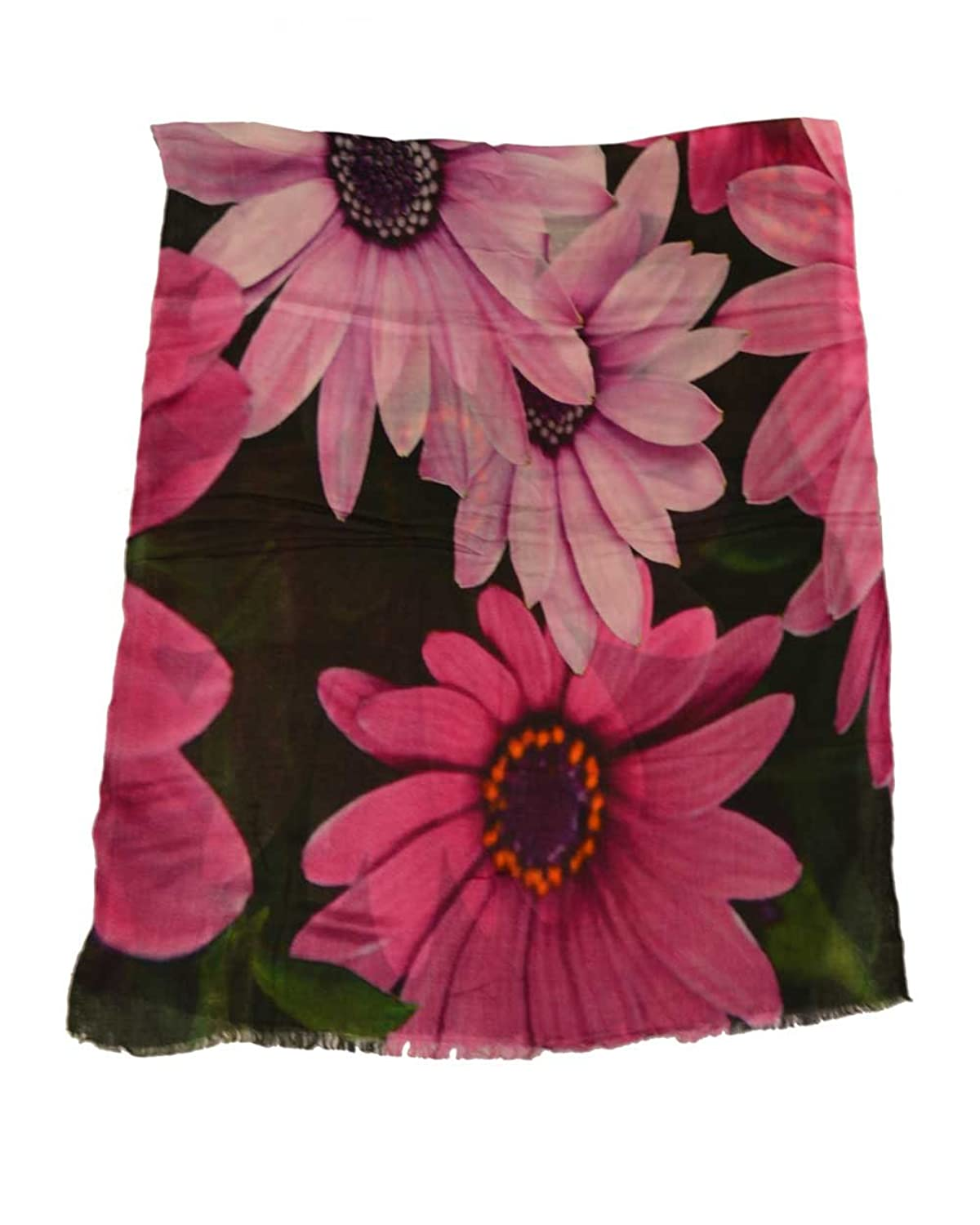 The Scarf Hut Women's Accessories Pink Floral Modal Digital Print Scarf