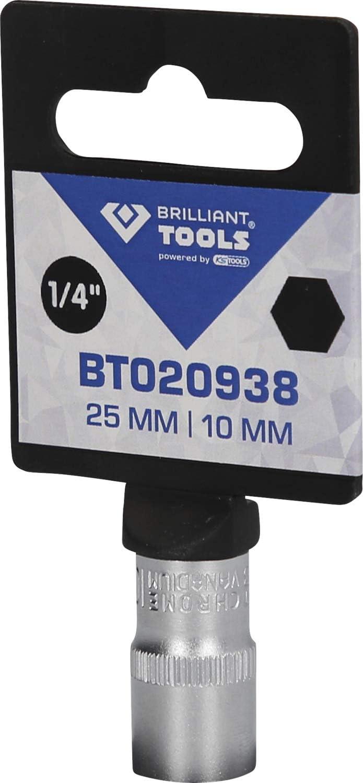 """10mm 25mm Brilliant Tools 1//4/"""" Steckschlüssel-Einsatz"""