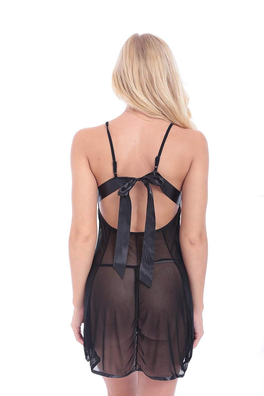 Cinturón de condoleo: camisón corto, escote halter, camisón corto, condole, espalda abierta, gasa, camisón condole, corto, lencería erótica Liguera, liga profunda en V, ver a través de la lencería femenina,Red,XL 9af337