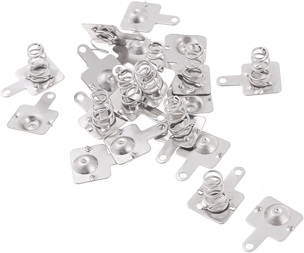 VNDEFUL 30 Pairs AA Battery Positive Negative Conversion Spring Plate