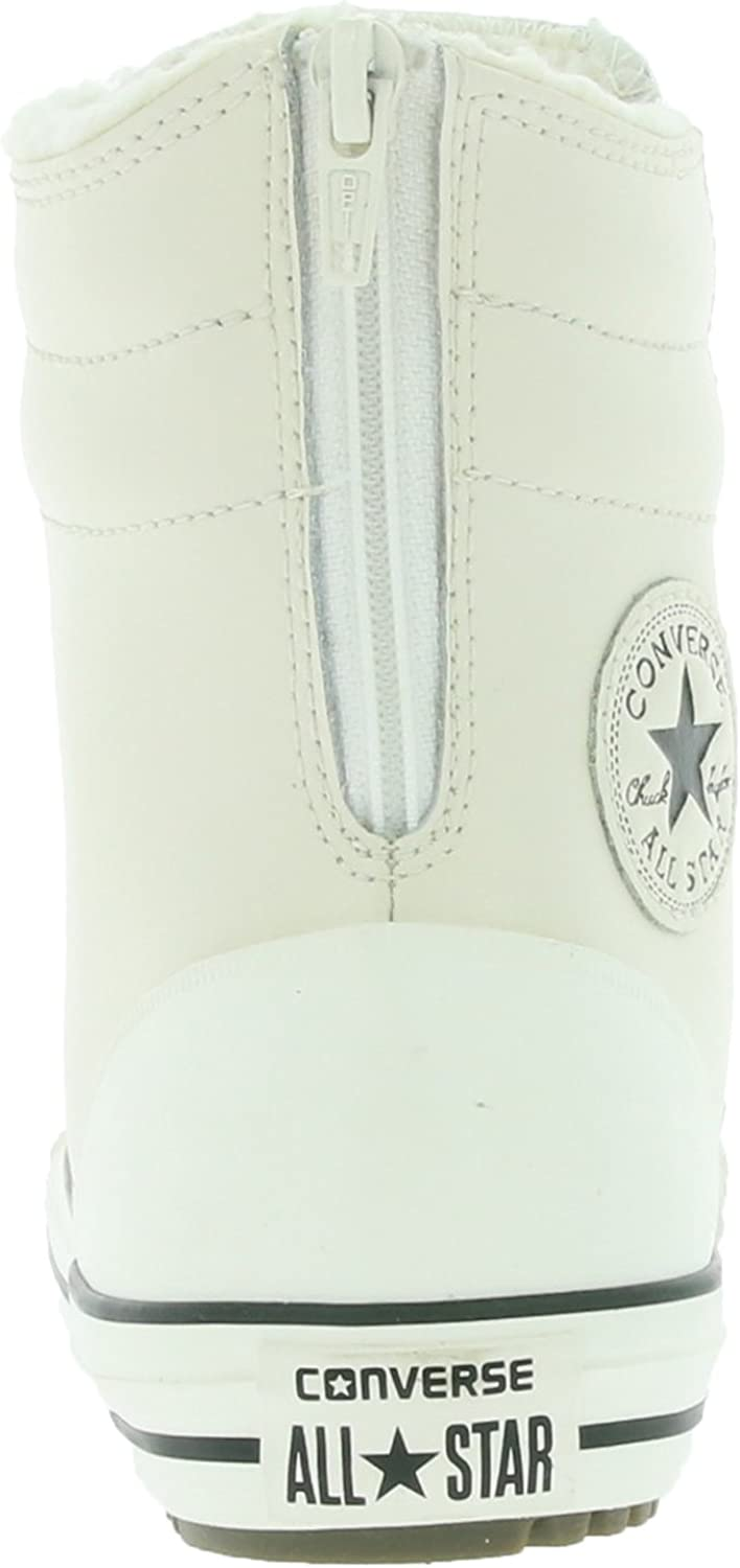 Converse Chuck Taylor All Star Hi Rise Boot X HI Kids Leatherette Trainers White 653389C
