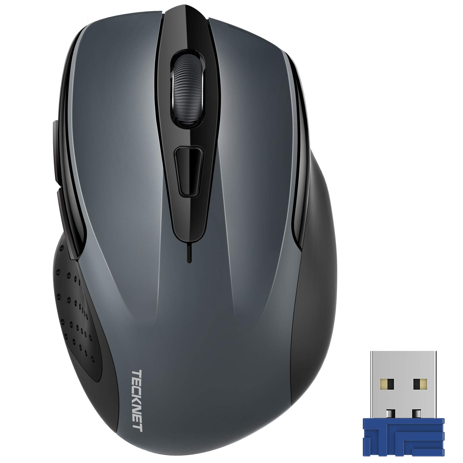 08b97256ff4 Amazon.in: Buy Tecknet M003 2.4G Ergonomic Wireless Mobile Optical Mouse  with USB Nano Receiver (Grey) Online at Low Prices in India | Tecknet  Reviews & ...