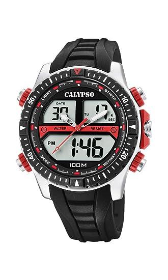 Calypso Watches Reloj Analógico-Digital para Hombre de Cuarzo con Correa en Plástico K5773/3: Amazon.es: Relojes