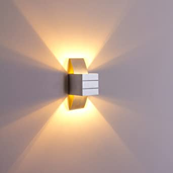 Dimmable Wall Lamps Up And Down Lamps For Serene Cozy Ambience Energy  Saving 40W Squared Wall