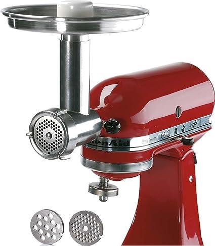 Jupiter Metal Food Grinder Attachment for KitchenAid Stand Mixers, 476100