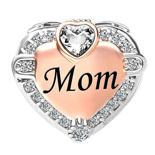 Pour bracelet Pendentif /à breloque en forme de c/œur avec inscription /« I Love You /» Korliya