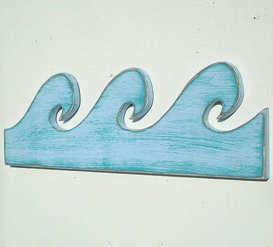 Amazon Com Wave Wooden Wall Art Handmade