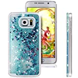 Rejected all traditions 3D Bling Dynamic Flowing Liquid Glitter Water Sparkly Quicksand Stars Case Cover For Samsung Galaxy S6 edge plus G928 - Blue