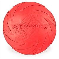 Payxuan Frisbee pour Chiens en Caoutchouc,Rouge Ø 18cm