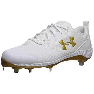 Under Armour Women's Glyde ST Softball Shoe, White (101)/Metallic Gold, 11.5 M US | Golf