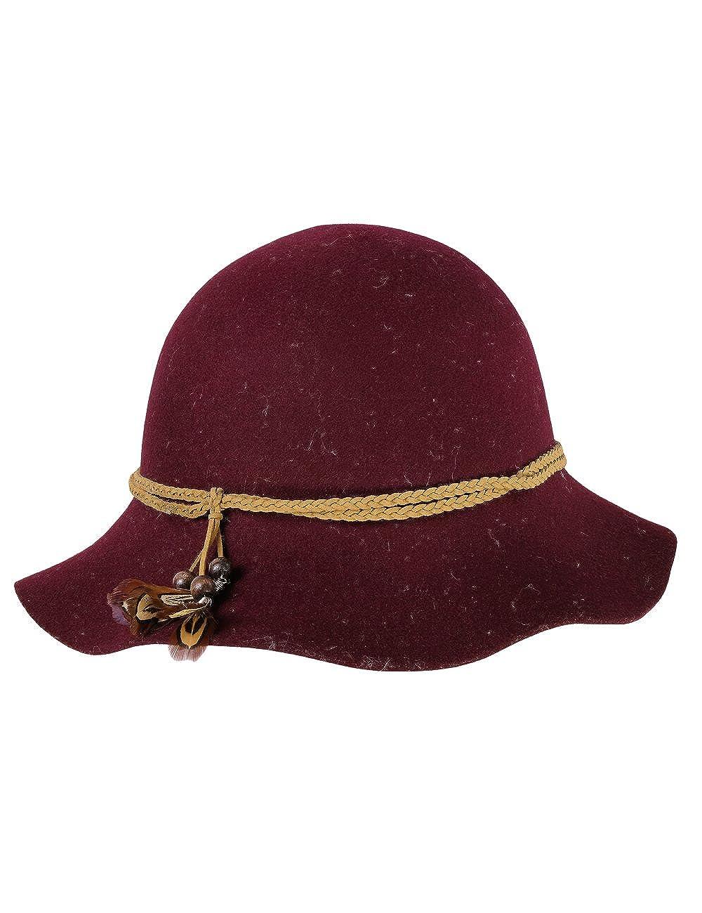 bff2986364dd9 CaPO SAN Marino Hat Fedora Noir (Black 20) Small Femme  Amazon.fr   Vêtements et accessoires