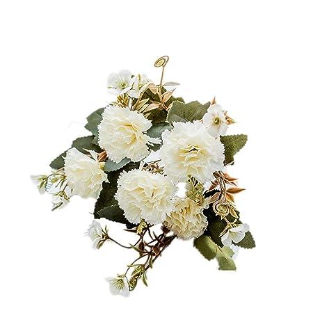zmigrapddn 1 Unidad de 5 Ramas de Flores Artificiales Coloridas ...