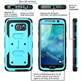 Galaxy S6 Case, [Armorbox] i-Blason built in [Screen Protector] [Full body] [Heavy Duty Protection ] Shock Reduction[Bumper Corner] for Samsung Galaxy S6 (Blue)