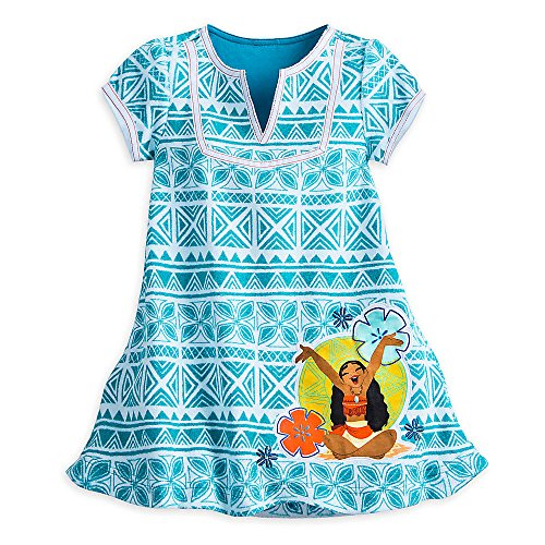 Disney Moana Swim Cover Up for Girls Size 4 White458032339306